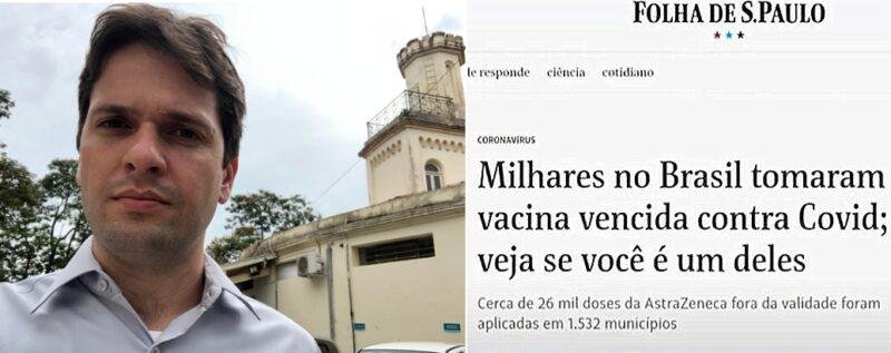 Eder Gatti alerta: Reportagem da Folha não reproduziu a realidade, espalhou preocupação e desacreditou o programa de vacinação e o SUS