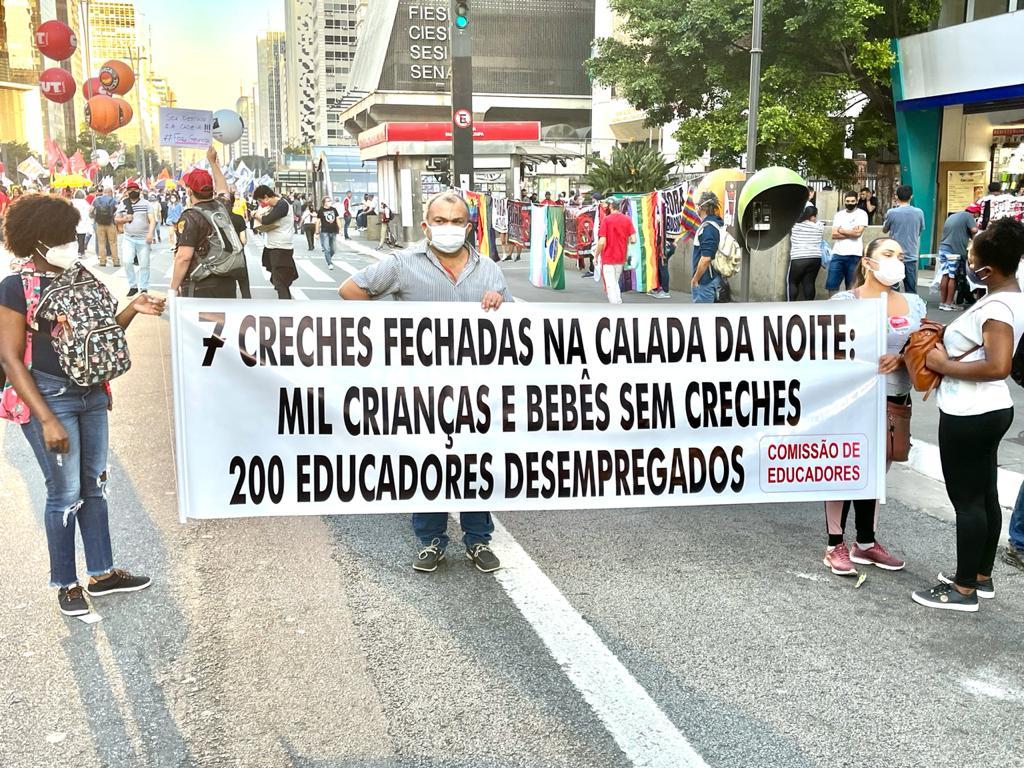 Paulista, 24J: Protesto contra fechamento de 7 creches na capital pela secretaria da Educação; íntegra