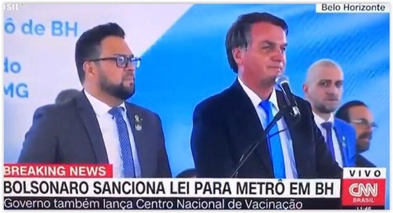 Bolsonaro é vaiado em BH em protesto contra privatização do Metrô; vídeos