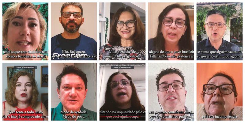 Em vídeo, médicos cearenses mandam recado a Bolsonaro:  O 7 Setembro não pertence a você! Assista