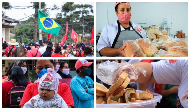 Grito dos Excluídos na região de Curitiba teve Fora Bolsonaro e abertura de padaria comunitária; fotos