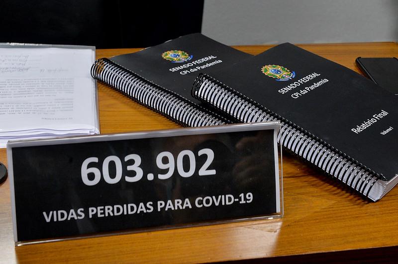 CPI da Covid: leia a íntegra do relatório final entregue ao Senado por Renan