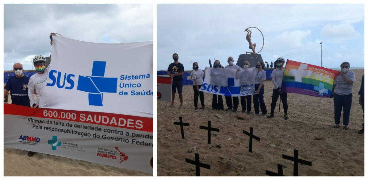 600 mil brasileiros mortos por covid: Médicos cearenses denunciam governo federal e CFM, cobram apuração e punições; vídeos
