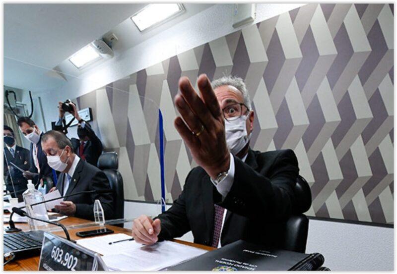 """Renan lê relatório final: """"Governo federal foi omisso, expondo deliberadamente a população a risco concreto de infecção em massa""""; íntegra"""