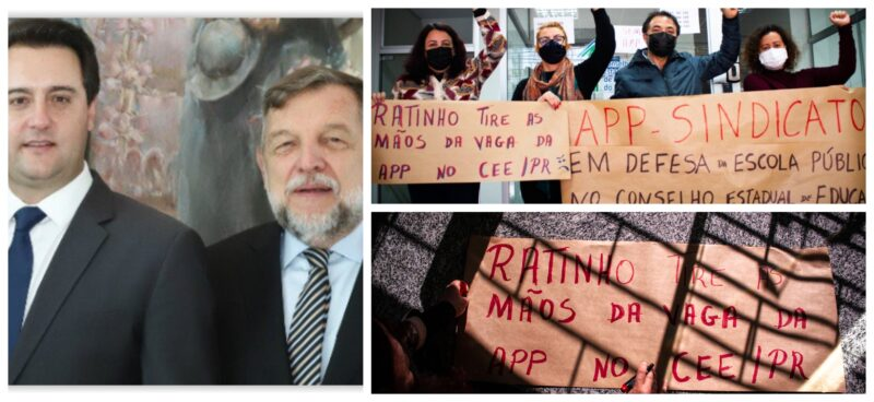 Golpe no Conselho de Educação do Paraná: Ratinho Júnior entrega vaga histórica da APP-Sindical ao senador Flávio Arns; vídeo